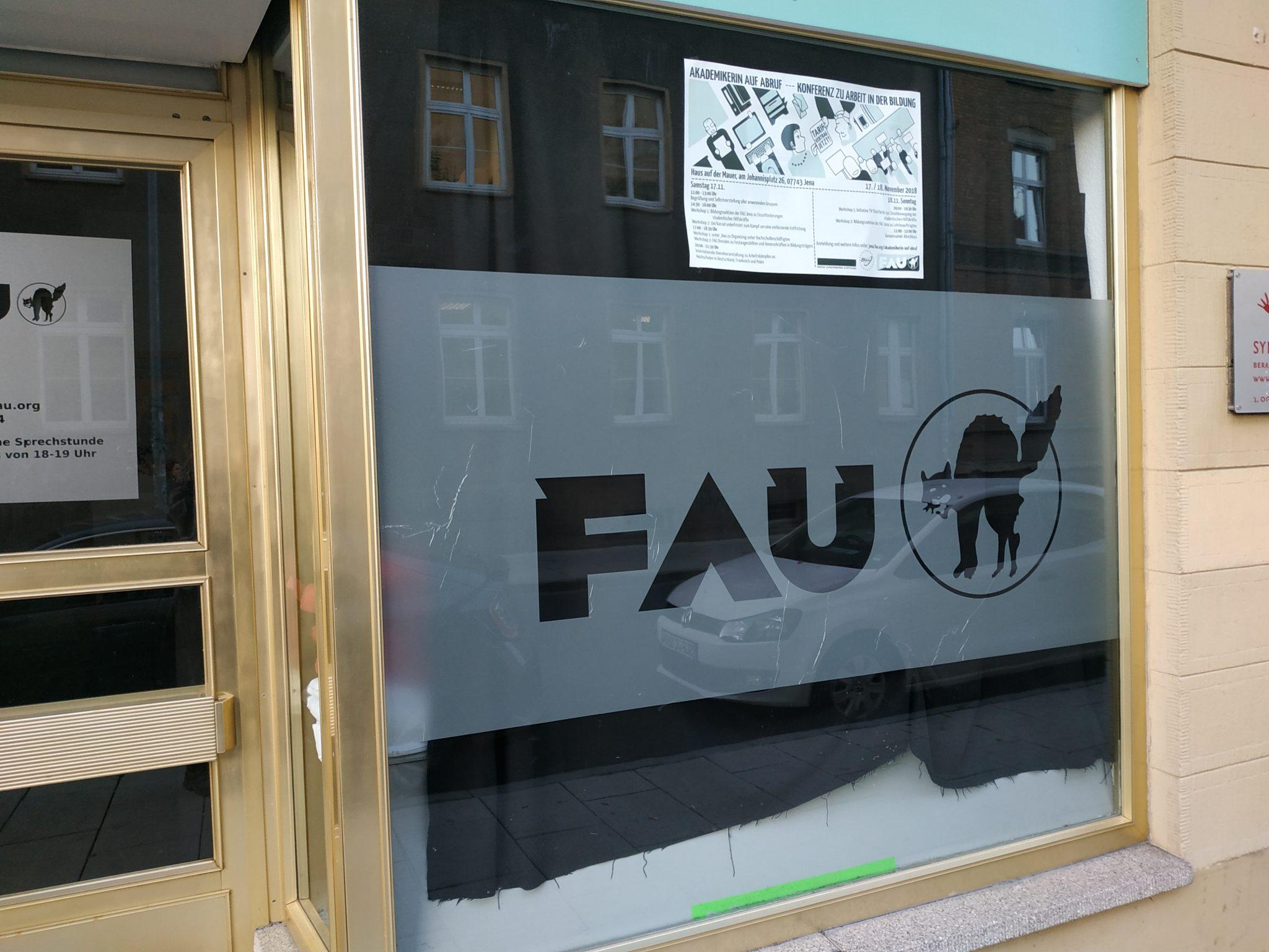 Frist ist Frust – Bildungssektion der FAU Jena unterstützt Entfristungskampagne an Universitäten