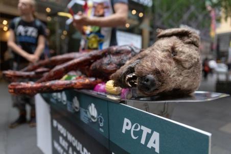Hund wird in Jenaer Innenstadt gegrillt – PETA wirbt mit aufsehenerregender Aktion für vegane Lebensweise – Dienstag