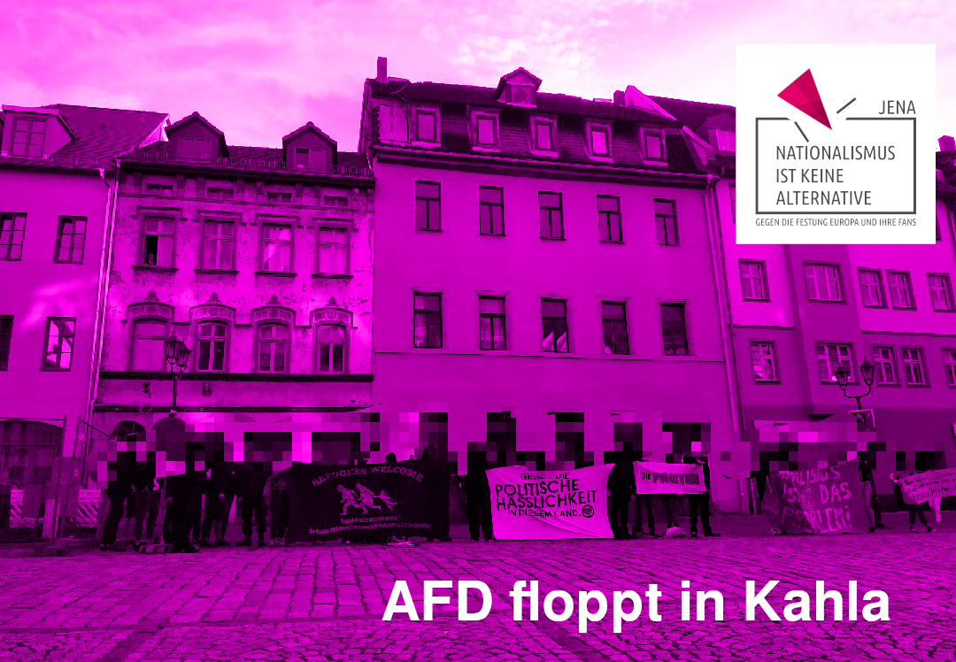 AfD-Stammtisch in Kahla gefloppt! NIKA Jena demonstriert in Kahla