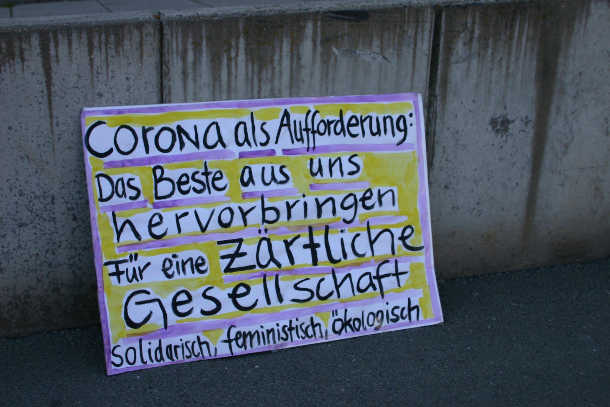 Corona kann keine Ausrede sein – Kundgebung für Solidarität mit allen Menschen