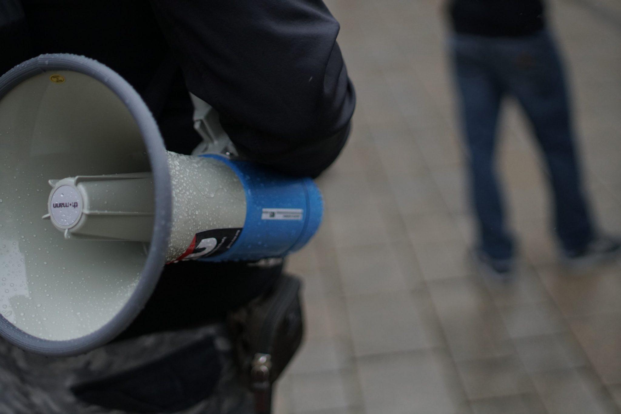Feministischer Protest zum 1. Mai in Jena