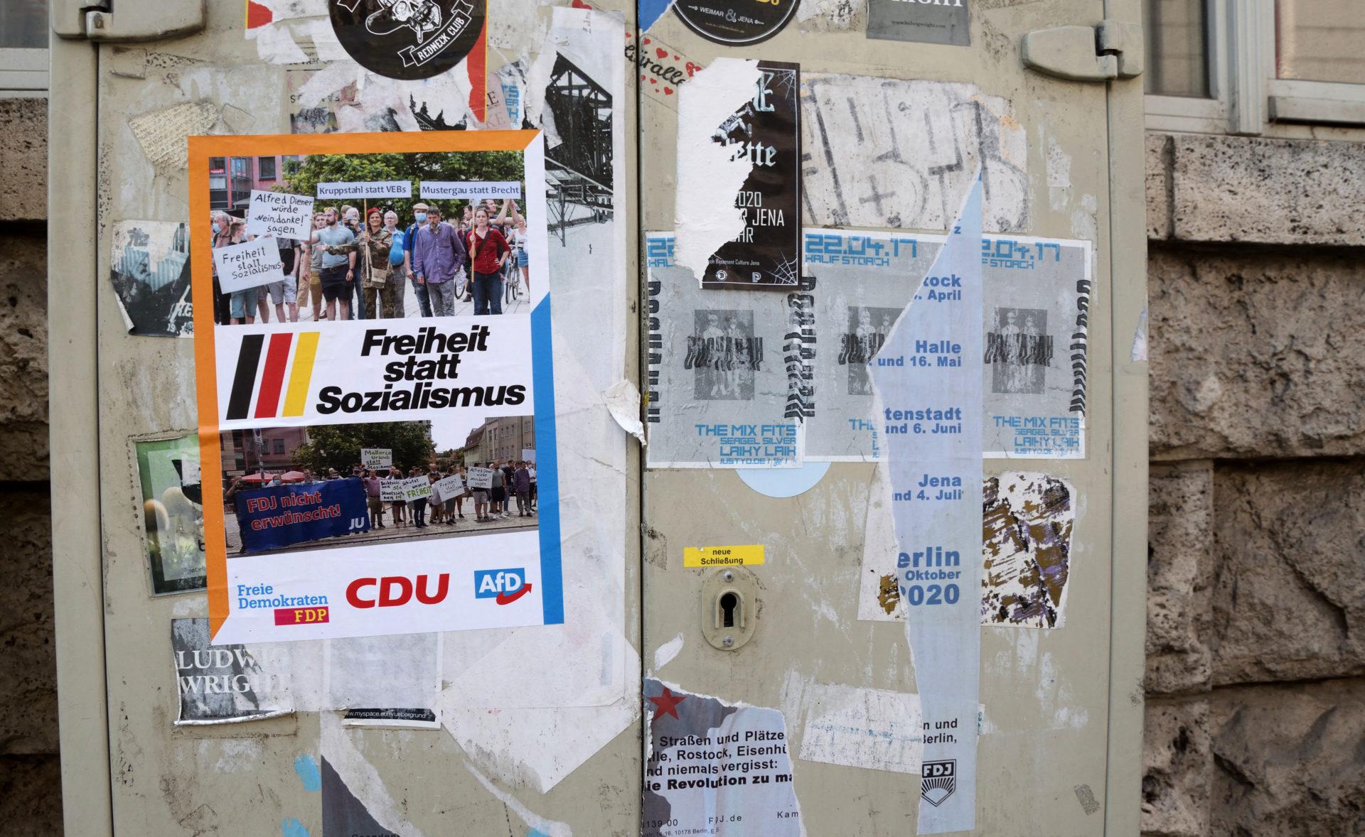 Jena: gemeinsame Kampagne von AfD, FDP und CDU?