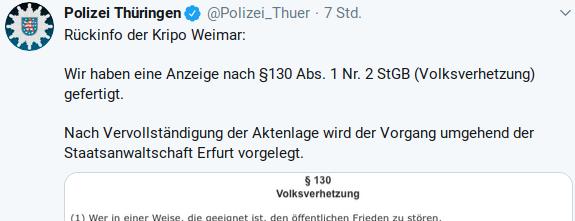 Polizei Thüringen: löscht euch! Euer Derailing ist peinlich