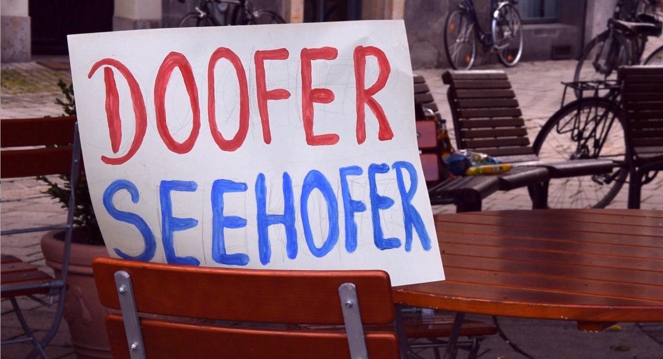 Kundgebung gegen das Verbot Seehofers zur Aufnahme von Geflüchteten