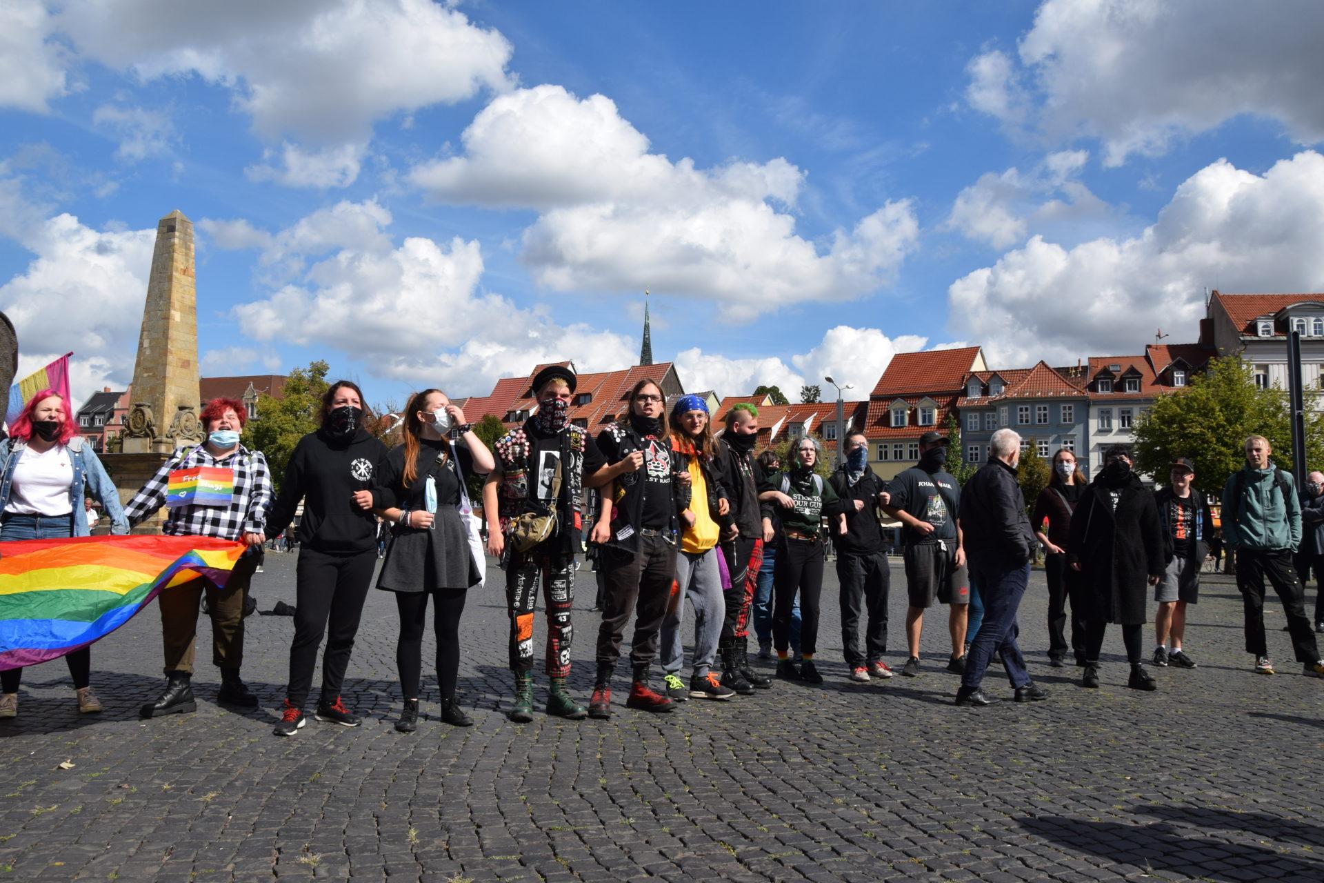 Gegenprotest: Der Bus des Hasses hat Erfurt besucht