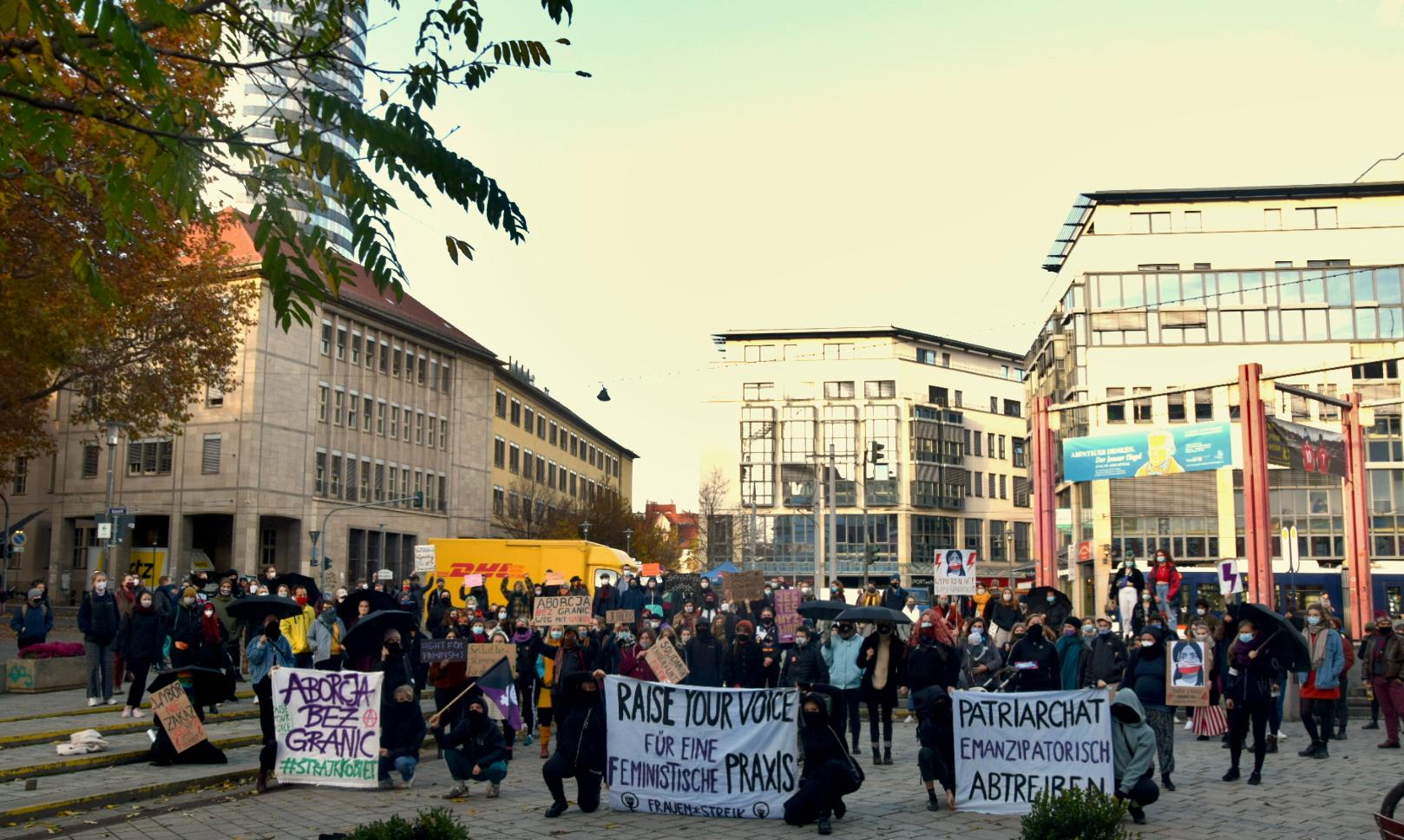 Solidarität mit Polen: Kundgebung gegen Abtreibungsverbot