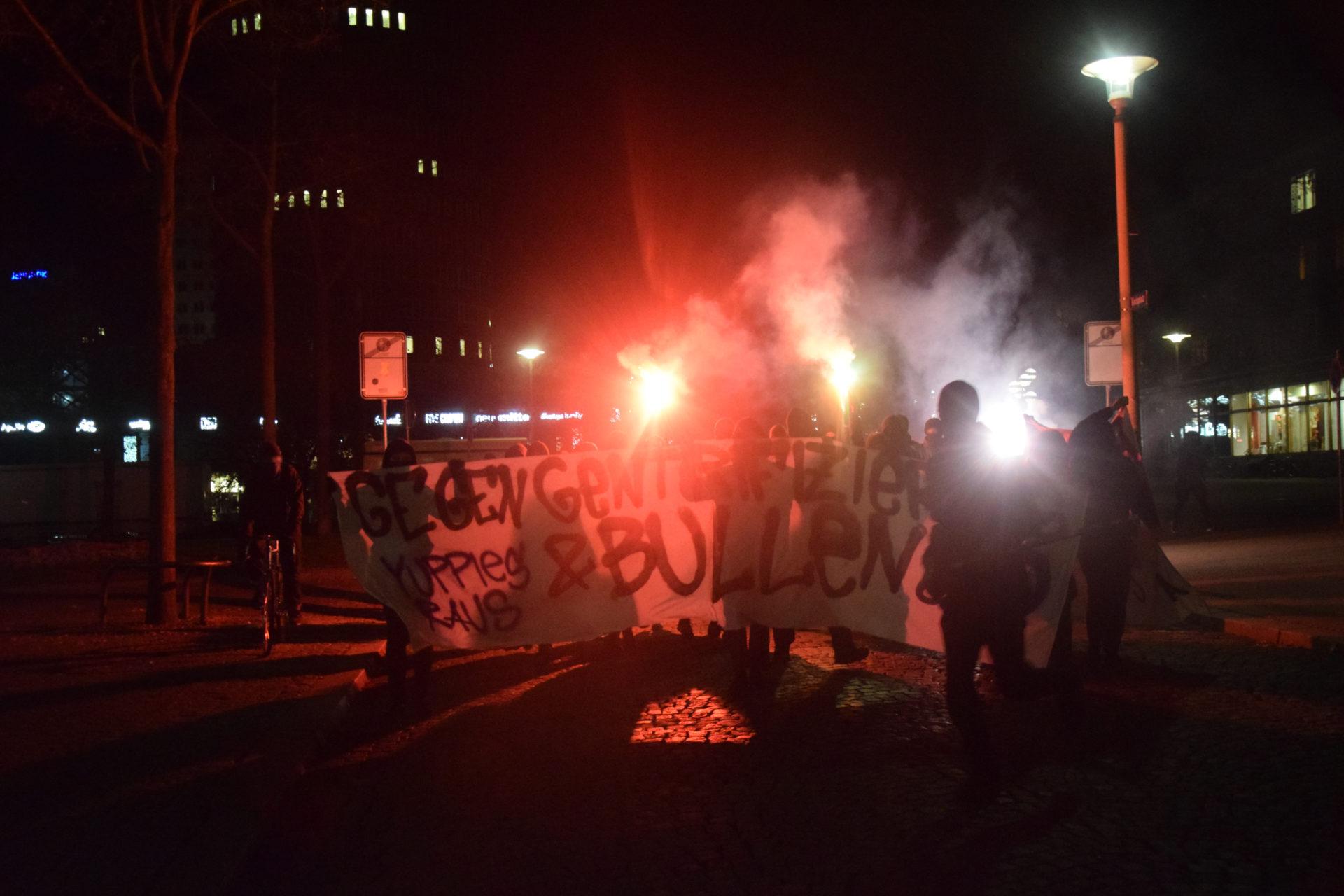 Militante Spontandemo in Jena