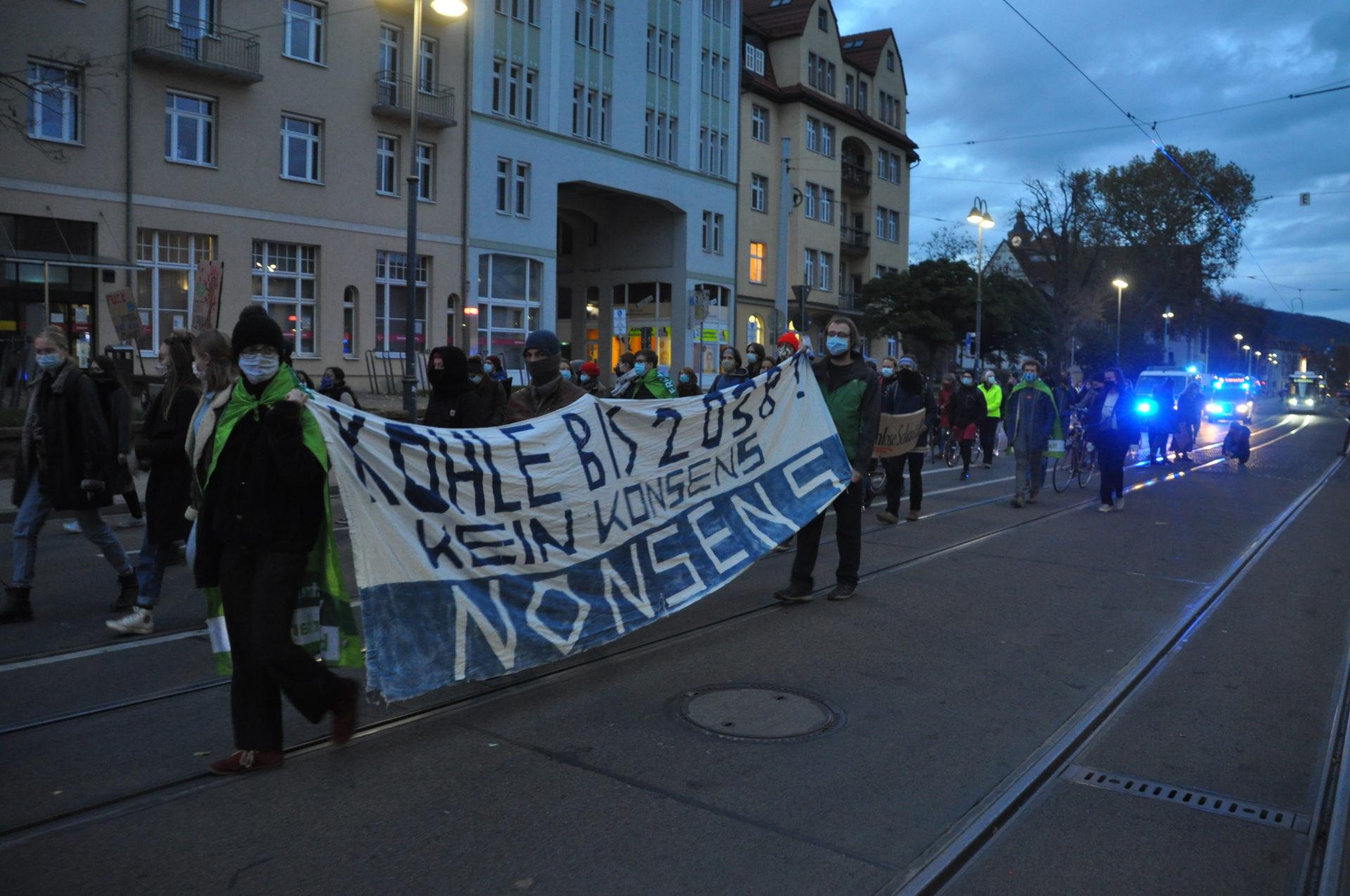 """""""Wir gehen auf die Straße – gegen die Straße"""": FFF Jena mobilisiert gegen die Rodung des Dannenröder Waldes"""