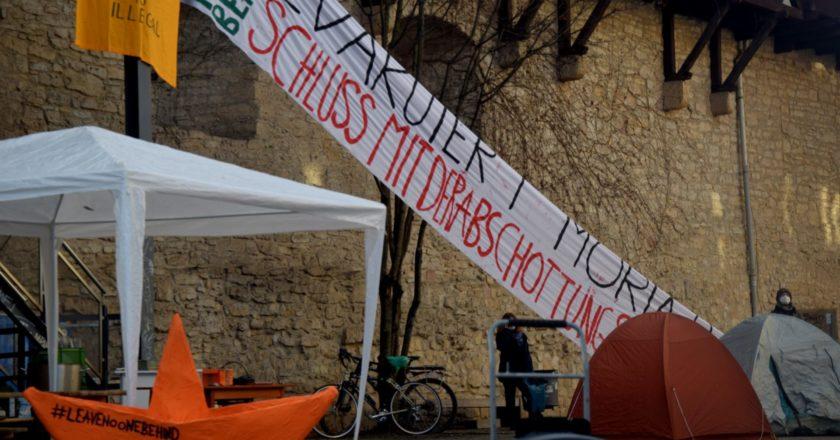 """Jena – noch kein """"sicherer Hafen"""": Kundgebung der Seebrücke"""